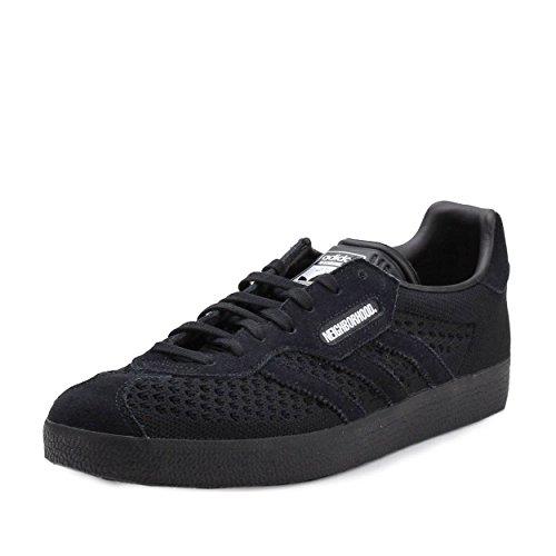 Adidas Mens Gazzella Super Nbhd Quartiere Tessuto Nero