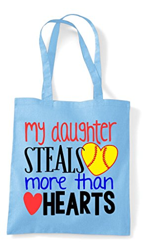 Tote Steals My Bag More Daughter Baseball Heart Sky Sports Shopper Hearts Blue Than Z88r5wFqxU
