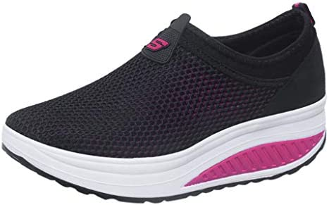 Sport Fitness Leather Shoes Womens Fashion Casual Solid Breathable Shake Shoes