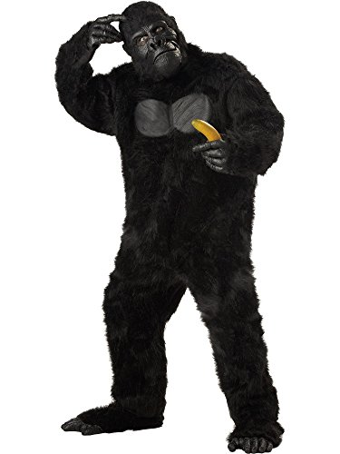 California Costumes Men's Plus-Size Full Gorilla Suit Costume In Plus, Black, Plus Size for $<!--$72.54-->