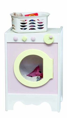 Little Colorado 098SWSP Kids Washer and Dryer - Solid White with Soft Pink Doors