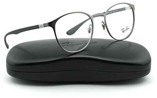 Ray-Ban RX6355 Metal Round Unisex Eyeglasses (Mate Gunmetal Frame 2620, - Ban Ray Clear Lense Glasses