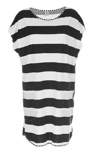 Nanso -  Camicia da notte  - Donna nero/bianco XS