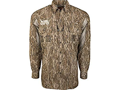 Vestless Mesh-Back Shirt with Spine Pad (Mossy Oak Bottomland) (X-Large)