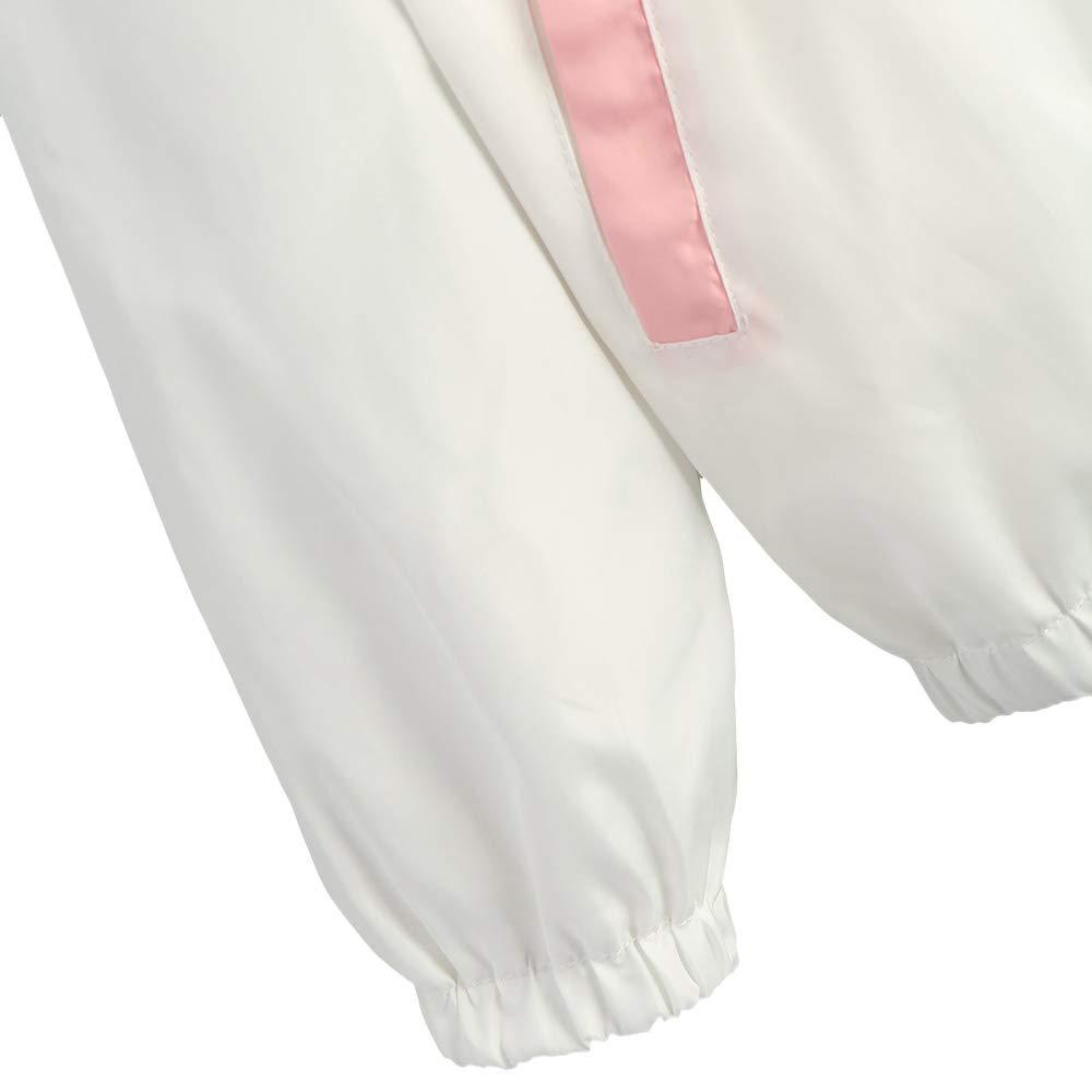 ZAFUL Womens Hooded Windbreaker Jacket Sport Zipper Two Tone Lightweight Jackets Sweatershirt Outwear Streetwear