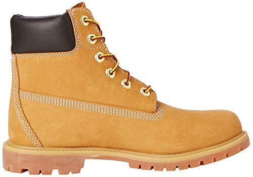 Timberland Damen 6 Zoll Premium wasserdicht Stiefel, Gelb (Wheat Nubuck), 38 EU 6