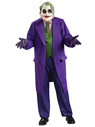 Batman The Dark Knight Joker Deluxe Costume, Purple, X-Large -