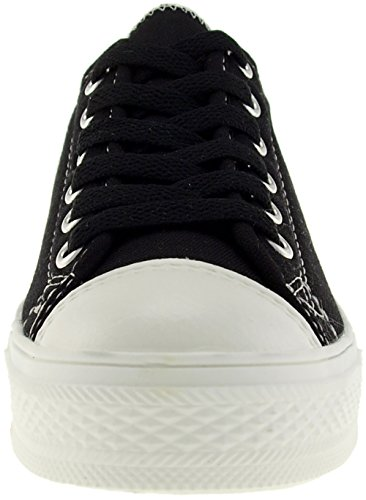 Maxstar C1 6-Holes Casual Canvas Low Sneakers Shoes C1-1-Black wJf8vcqw