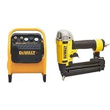 DEWALT DWFP55130 Heavy Duty 200 PSI Quiet Trim Compressor & DEWALT DWFP12233 Precision Point 18-Gauge Brad Nailer Kit