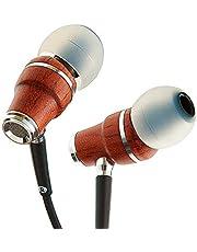 Symphonized NRG X Houten Oordopjes met Draag en Microfoon, Stereo In-Ear Koptelefoon voor Samsung en Huawei, Geluidsisolerende Koptelefoon met Hoekige Oordopjes, Oordopjes met Snoer en Dreunende Bas (Zwart)