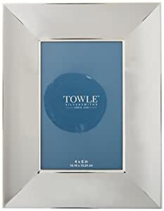 Towle Wide Border Scoop Photo Frame, 4-Inch by 6-Inch