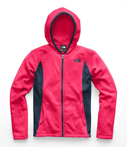 The North Face Girls Glacier Full Zip Hoodie - Atomic Pink - S by The North Face