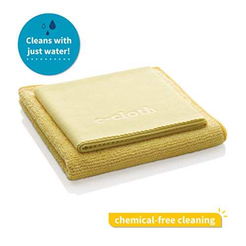 (E-Cloth Microfiber Bathroom Cleaning Pack, Bathroom Cleaning Cloth & Polishing Cloth, 2 Cloth Set)