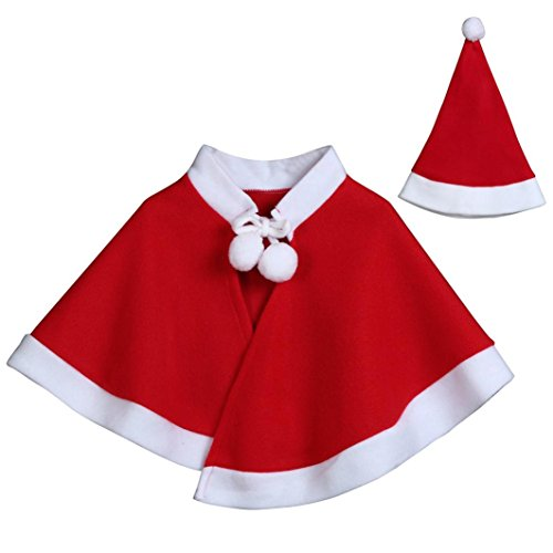 SEXYP Baby Boys Girls Christmas Costume Cosplay Cape Cloak Clothes (8T) by SEXYP_baby clothes