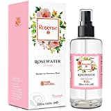 Rosense Glass Bottle Rosewater Hydrating Facial Toner/Rose Water Face Mist 6.8 Oz