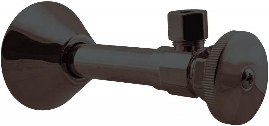 Westbrass D1112-12 Round Handle Angle Stop 1//2 Copper Sweat x 3//8 OD Comp Oil Rubbed Bronze