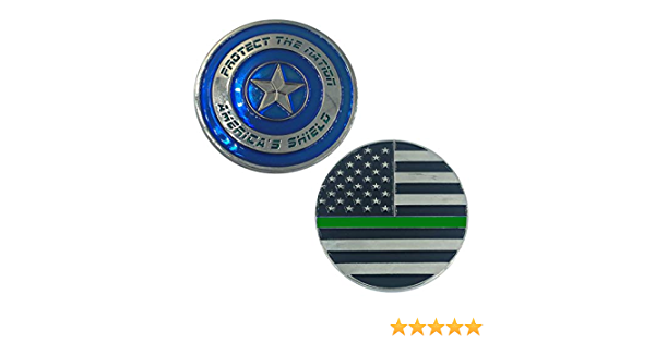LEO Challenge Coins DL5-09 Wonder Woman Inspired Women in Law Enforcement Thin Green Line Police Deputy Sheriff Army Marines Border Patrol CBP Patch Hook and Loop Back PVC