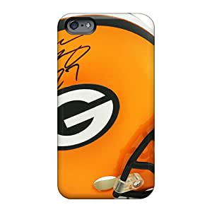 Scratch Protection Hard Cell-phone Case For Apple Iphone 6s With Unique Design Stylish Green Bay Packers Skin Allbestcases