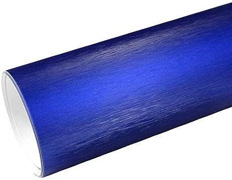 Rapid Teck 8 55 M Autofolie Serie Z560 Chrom 3d Brushed Deep Blue 1m X 1 52m Alu Gebürstet Selbstklebende Premium Car Wrapping Folie Mit Luftkanal Baumarkt