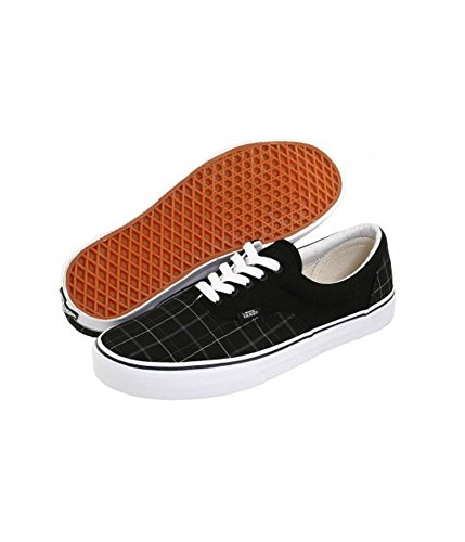 Vans Unisex Woven Plaid Canvas Skate Sneakers, Black, 5.5 B(M) US Women / 4 D(M) US - Plaid Vans On Slip