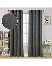 Deconovo Embossed Eyelet Blackout Curtains