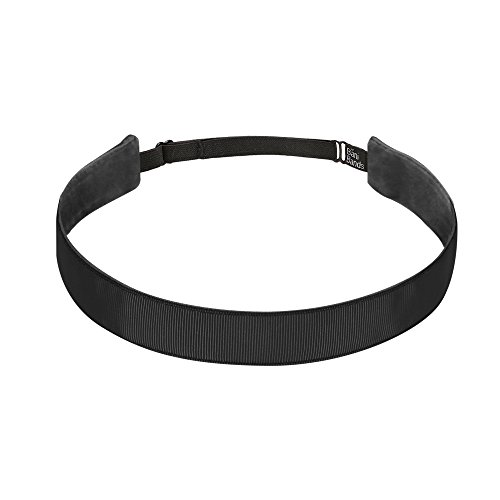 Bani Bands Women's Solid 7/8 Inch Adjustable Headband with Non-Slip Lining, Black
