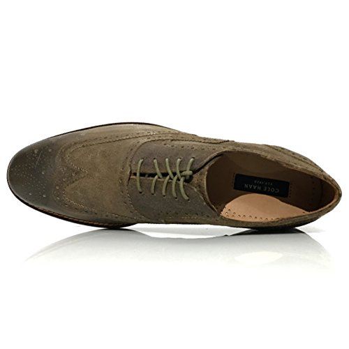 Haan Mens Cambridge Wing Distressed Cole Brogue Wingtip Oxfords Leather fqdtAyxw
