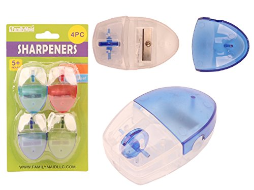SHARPENERS 4PC ASST CLR , Case of 144 by DollarItemDirect