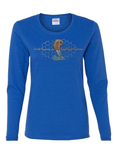 - Cobra Powered by Ford Women's Long Sleeve T-Shirt Mustang Cobra Royal Blue M