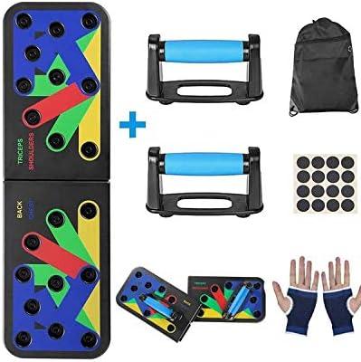 プッシュアップボードは、ワークアウトボードキット、マッスルフィットネスの運動、カロリー消費、筋力構築の色分けされたプッシュアップボードシステムです