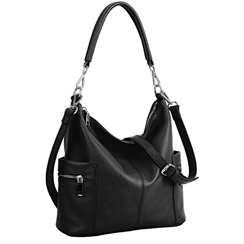 Black Hobo Bag Leather - 6