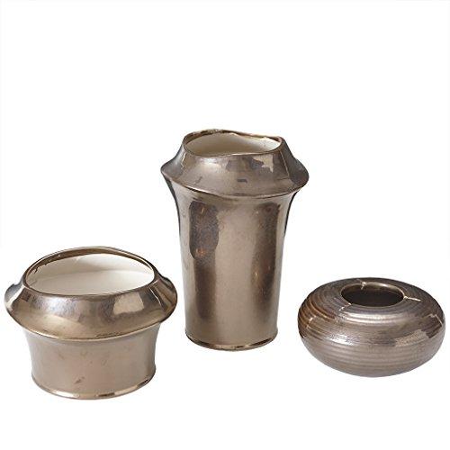 Madison Park Bowery Vase Ceramic Vase Set of 3 Bronze See Below