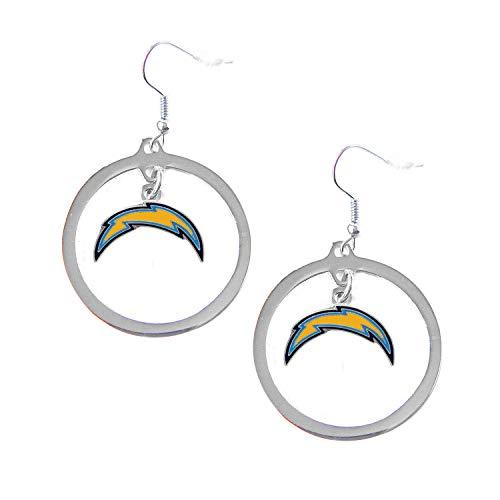 NFL Los Angeles Chargers Floating Logo Hoop Earrings
