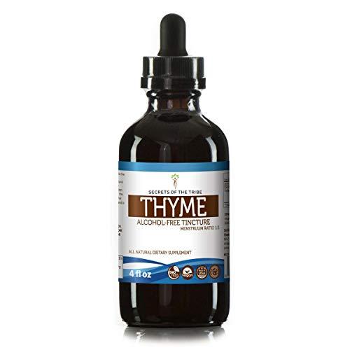 Thyme Alcohol-Free Liquid Extract, Organic Thyme (Thymus Vulgaris) Dried Leaf (4 FL OZ)