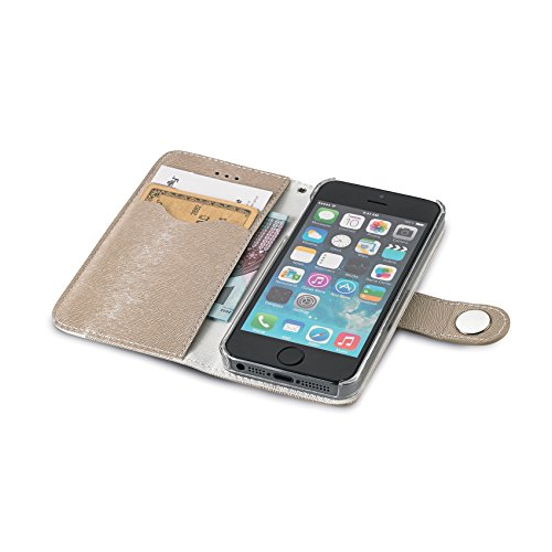 Celly Onda Case Schutzhülle für Apple iPhone 5/5S gold