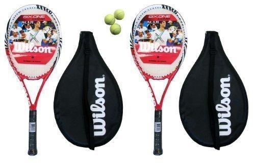 2 x Wilson Tabla Chocolate Uno Compuesta Rojo Tennis Raquetas L3 + ...