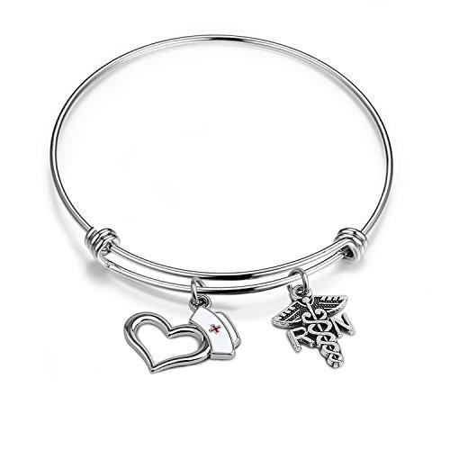 ENSIANTH Medical RN Bracelet,Personalized Nurse Bracelet,RN Bracelet,Nurse Jewelry,Gift for Nurse,Custom Nurse Gift,Graduation Gift,Nurse Day Gift (RN Bracelet)