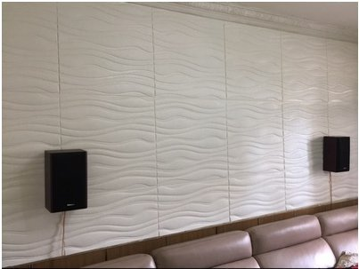 38 Square feet 3D Padded Wall Panel Easy Peel and self Stick Setup (3d Wave