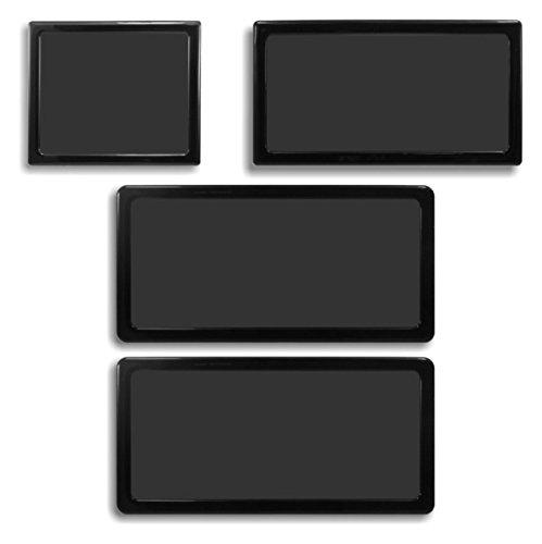 DEMCiflex Dust Filter Kit for Cooler Master Elite 130 Mini-ITX (4 Filters), Black Frame, Black Mesh by DEMCiflex