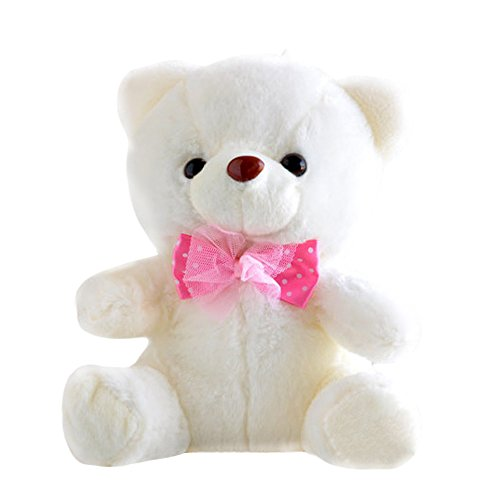 "Creative Teddy Bear Doll Colorful LED Glow Luminous Plush Stuffed Toy Birthday Valentines Gift 8.6"""