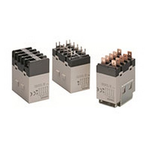 Omron G7J-3A1B-T AC200/240 General Purpose Relay, Quick-Connect Terminal, W-Bracket Mounting, Triple Pole Single Throw Normally Open and Single Pole Single Throw Normally Closed Contacts,  9 to 10.8 mA Rated Load Current, 200 to 240 VAC Rated Load Voltage