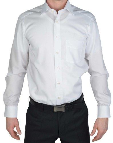Olymp Hemd Luxor Modern Fit extra kurzer Arm - weiss, Kragenweite:44