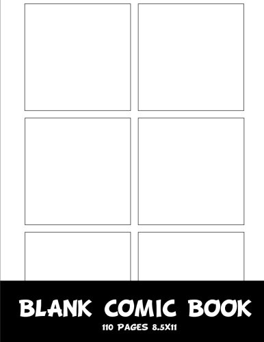 Comic Book : Blank Comic Strips 8.5x11 With 6 Panel Basic, 110 Pages , Make Your Own Comics With This Comic Book Drawing Paper, Blank Comic Book Vol.1: Blank Comic Books