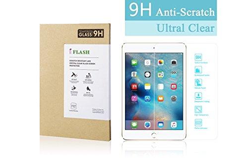 iFlash Tempered Glass Screen Protector: Crystal Clear & Bubble Free - for Apple iPad Mini 5/4 Retina Display (iPad Mini 5th / 4th Generation 2015-2019) ATT/T-Mobile/Verizon/Sprint - Retail