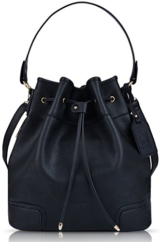 Coofit Drawstring Handbag Bucket Bag Leather Crossbody Bag Original Design Shoulder Bag Handbag for -