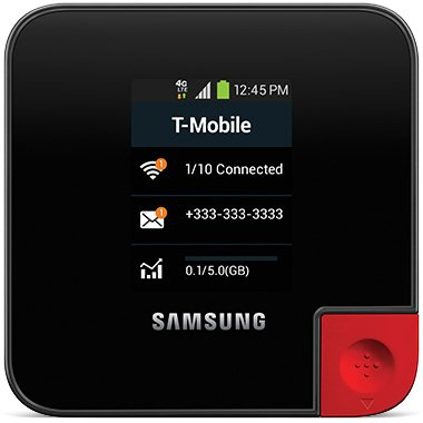 (T-Mobile Samsung SM-V100T LTE 4G - Wireless Broadband Hotspot Pro)
