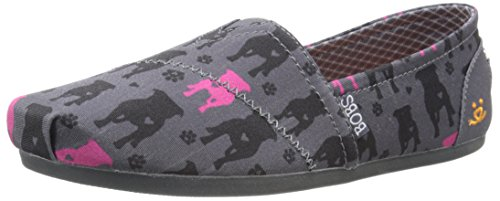 BOBS from Skechers Women's Plush - Gentle Giant Flat, Pit Bull, 6 M -