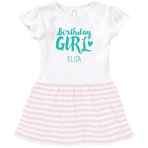 FUNNYSHIRTS.ORG Cute Birthday Girl Eliza: Toddler Baby Rib Dress