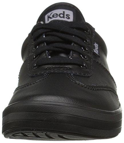 Keds Women Craze Ii Leather Sneaker Fashion Nero / Nero