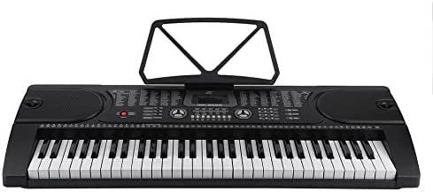 homgrace teclado electrónica portátil con 61 teclas, Piano